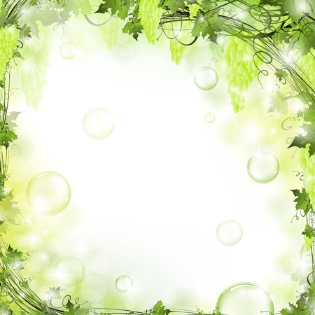 nature floral air background with bubbles