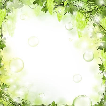 bordure vigne: nature air floral arri�re-plan avec bulles  Illustration