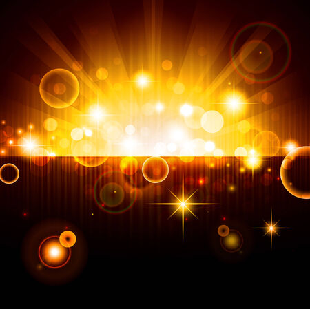 bright night background with stars and lights Vector