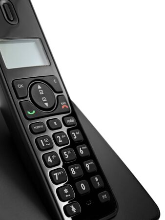 cordless phone: cordless phone phone over the white background Stock Photo