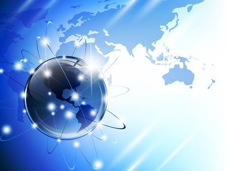 embarque: Mapa del mundo  Vectores