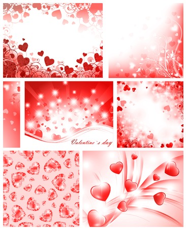 copyspace: Valentine`s day background collection with hearts