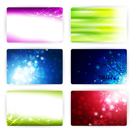 gift card templates, 86x54mm Vector