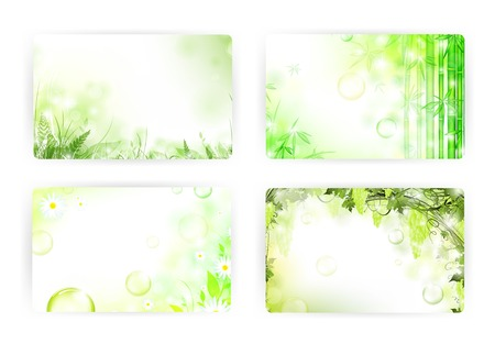 bamboo frame: gift card templates, 86x54mm