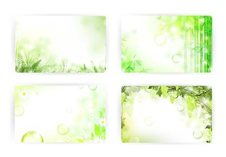 ferns: plantillas de tarjetas de regalo, 86x54mm