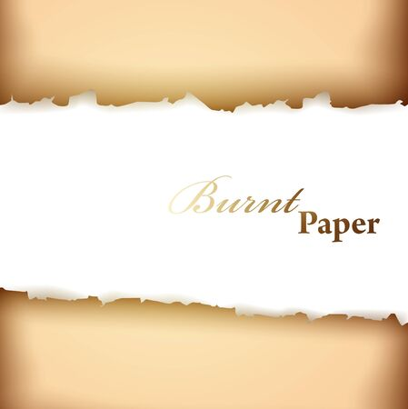 burnt paper: burnt paper frame with copyspace for your text Illustration