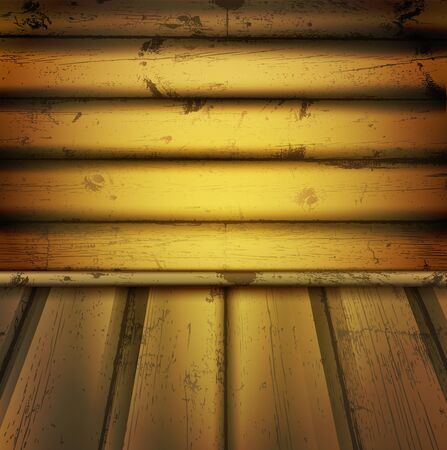 illustration of empty natural wooden interior Stock Vector - 9625525