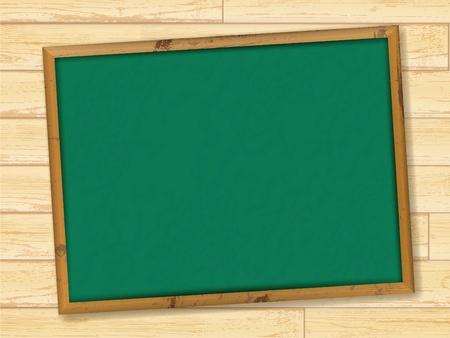 lavagna: Lavagna della scuola vuoto a parete in legno