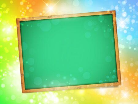 Empty school blackboard over bright background Vector