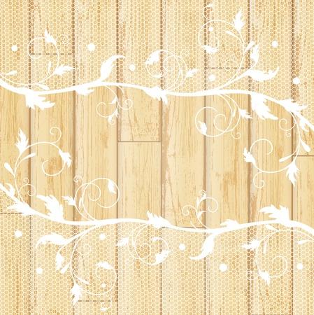 lavoro manuale: pizzo fotogramma alla luce di fondo in legno