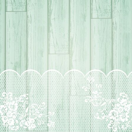 lace frame at light wooden background  Stock Vector - 10418365