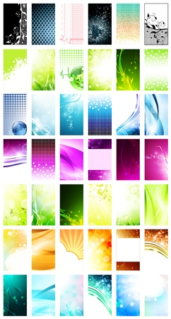 variety of 42 vertical business cards templates Vector Illustration