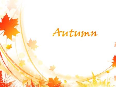 가을 단풍 텍스트 밝은 프레임, 복사 공간 나뭇잎