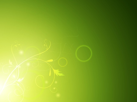 miracle leaf: abstract floral green background, copyspace