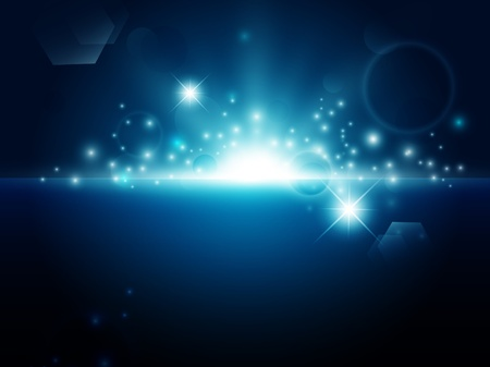 bright night background with stars and lights  Illustration