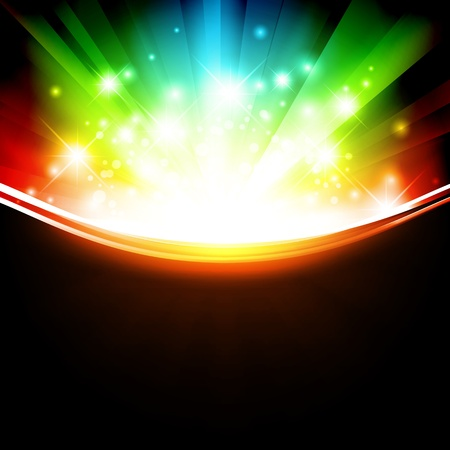 explode: holiday multicolored template with shining stars and copyspace