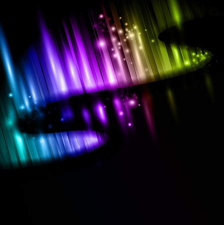 polar light: ilustraci�n abstracta de la aurora boreal multicolor Vectores