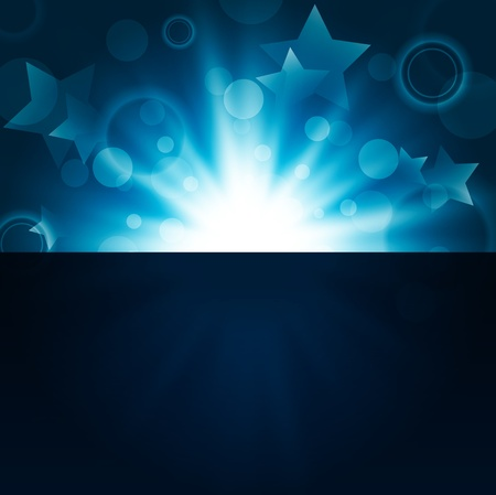 abstract bright night background with stars and lights Stock Vector - 11090335
