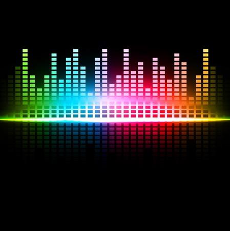 and sound: Arco iris multicolor de sonido de fondo abstracto