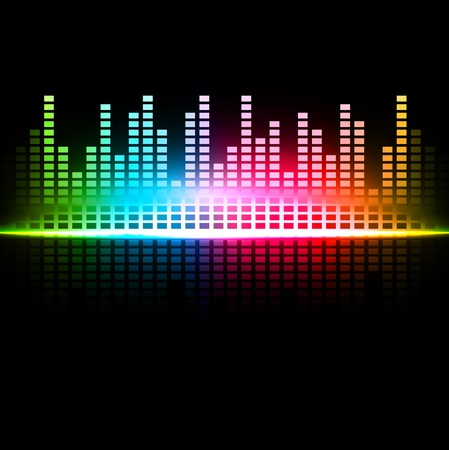 volume glow light: Rainbow multicolored abstract sound background