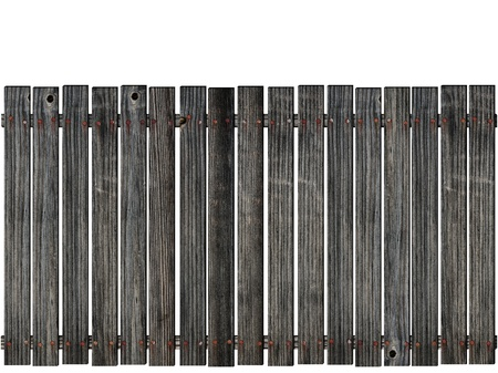 wooden fence over the white background  photo