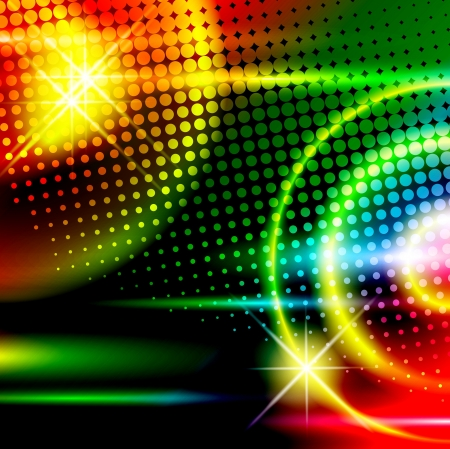 clubbing: abstract multicolored disco background Illustration