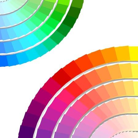 palette de couleurs de fond du spectre