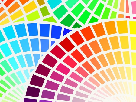 pantone: color spectrum palette background