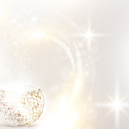 Christmas holiday background with mosaic candle lamp Vector