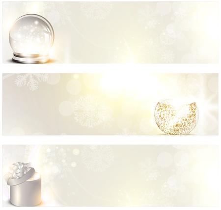 milagro: Banner de Navidad creado con elementos de vacaciones y copyspace