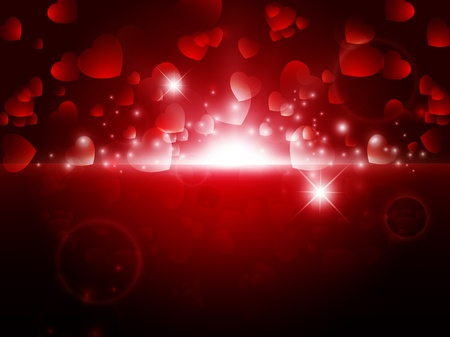bright night Abstract Valentine background with stars and lights Vector