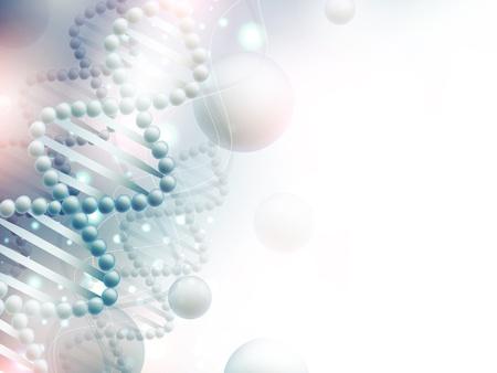 wetenschap achtergrond met DNA thema en copyspace voor uw tekst