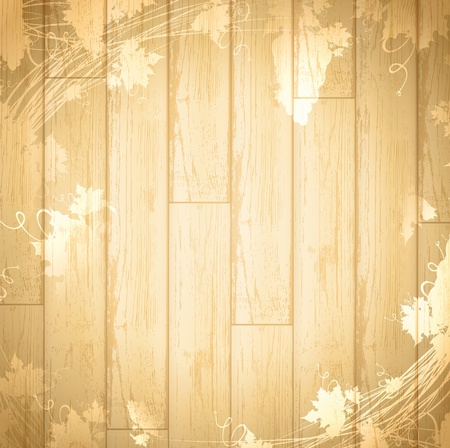 Vintage wine and winemaking wooden background, copyspace for your text Vector