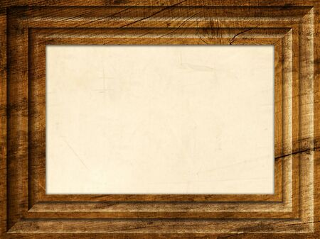 Brown Wooden frame Stock Photo