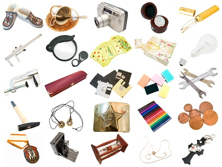 set from different everyday items  from my portfolio Stock Photo