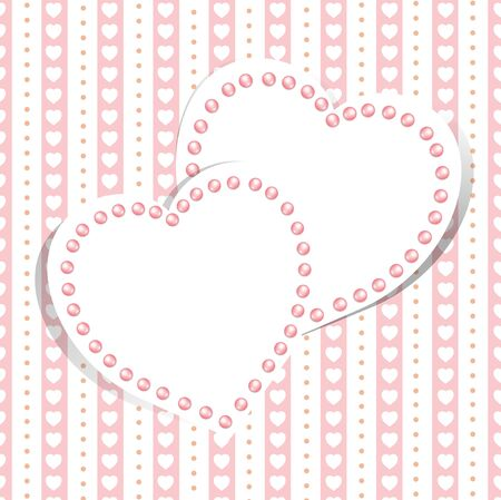 Wedding love background with hearts Stock Vector - 13810787