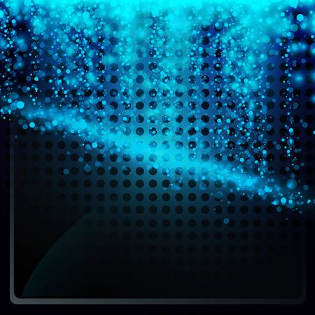 abstract blue glowing neon background Stock Vector - 14043675
