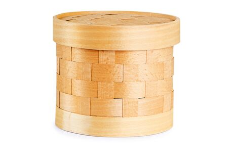 birchen: Birch bark container  Item of traditional handicrafts Stock Photo
