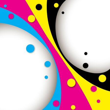 cmyk abstract: Creative CMYK abstract design with round shapes
