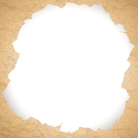 vintage torn paper hole with copyspace for your text  Vector