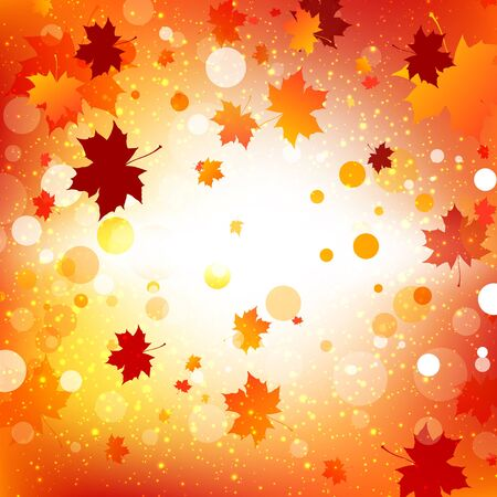 abstract autumn background with maple leaves Stock Vector - 14759013