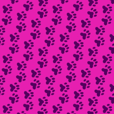 Seamless background of wildcat foils over purple