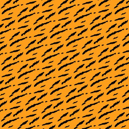 Seamless tiger style background Vector