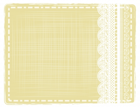 lace edges: abstract vintage border with lace frame