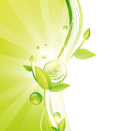Green Frame With Leaves and Abstract Balls, Copyspace for Your Text Stock Vector - 15512317