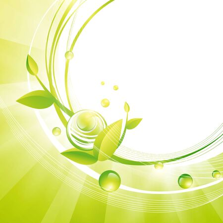 Green Frame With Leaves and Abstract Balls, Copyspace for Your Text Stock Vector - 15512318