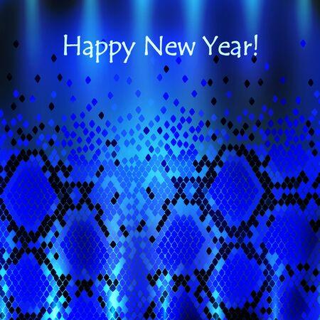 snakeskin: Snake New Year Background in Blue