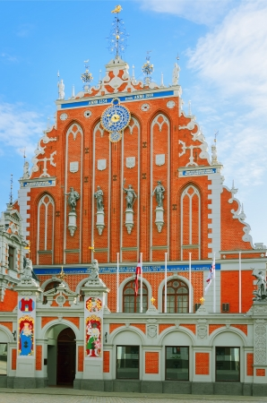 mannerism: Restored Blackheads House In The Old Riga  Latvia