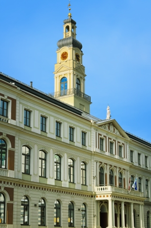 Municipality of Riga Against Blue Sky  Latvia  photo