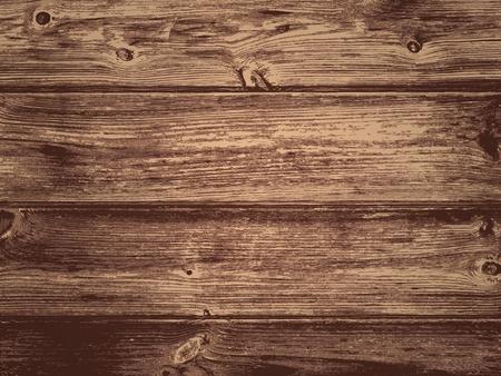 Illustration of the Natural Dark Wooden Background Vettoriali